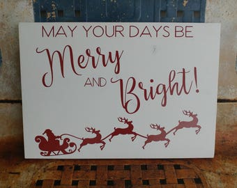 Handmade Santa's Sleigh Christmas Sign