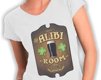 Women's V neck t shirt alibi room