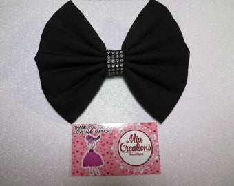 Twinkling Black Onyx Bow