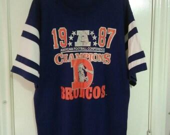 Vintage Denver Broncos 80s Champion shirt sz XL
