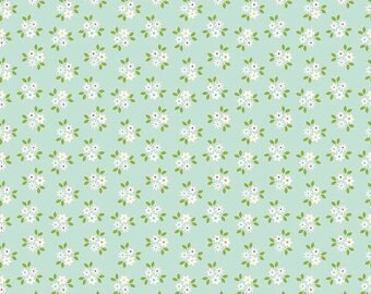 """SALE Riley Blake Designs """"Garden Girl"""" by Zoe Pearn. 100% cotton Fabric- Floral,Mint - Posies"""