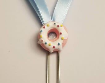 Saupoudrer bleu clair Donut décoré planificateur trombone-Decoden Planner trombone-Agenda planificateur Clip-bleu Clip accessoire-Planner accessoire