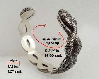 Twin Snake cuff bracelet