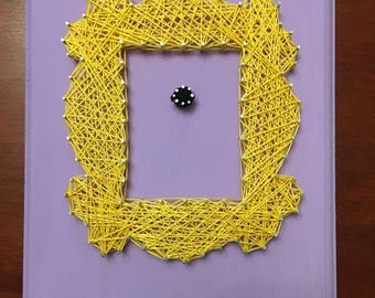 String Art Yellow Frame