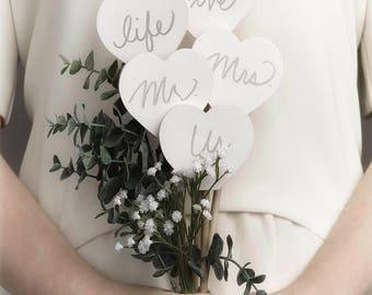 A Wordy Bridal Bouquet