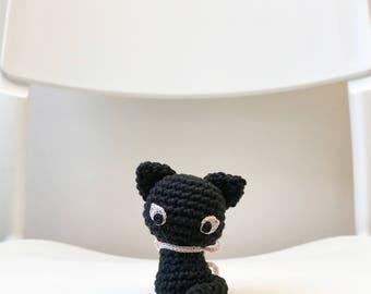 SMALL CAT amigurumi crochet, crochet cat, amigurumi cat, crochet kitty, cat with ribbon, cat baby gift, cat gift for kids, cat gift for her