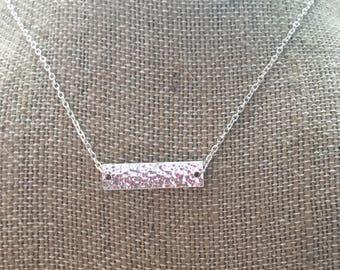 Silver Bar Necklace- Bar Necklace- Bar Accessories- Silver Bar Accessories- Silver Necklace- Silver Jewelry- Silver Accessories- Necklaces-