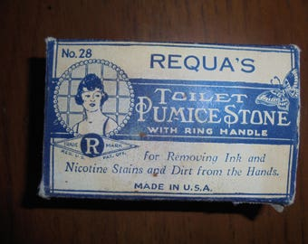 Antique Requa's Pumice Stone with Metal Handle