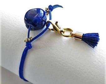 17626 Prussian blue bracelet