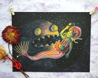 Print - Mermaid of the depth