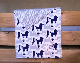 GEOMETRIC dogs / / double layer flannel baby blanket