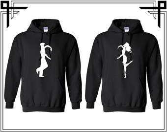 Heart Dancing Couple Hoodie Hoodie Couple Hoodies Hooded Sweatshirt Party Valentines Day & Anniversary Gift For Couples Gift For Him And Her