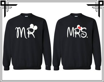 Mr And Mrs Couple Crewneck Sweatshirt Mr And Mrs Couple Crewneck Sweatshirt Sweater Couple Matching Sweatshirt Anniversary Gift Sweatshirt
