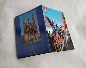 Set / booklet of twelve vintage postcards, vintage art postcards, collectible postcard,  old postcards of Lithuania Vilnius