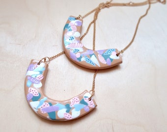 The Secret Garden - handcrafted polymer clay necklace