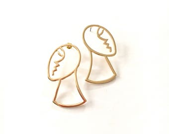 Gold Silhouette Earrings