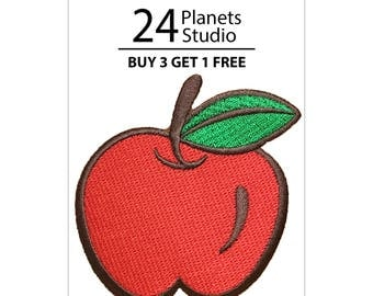 Apple Iron on Patch by 24PlanetsStudio