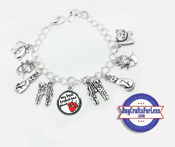 KITTY Best FRIEND Charm bracelet, Puuurrrrfectly CuTE!  **FREE SHiPPiNG**