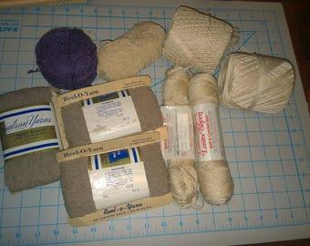 Thin Yarn Lot Knitting & Crochet Nubby Boucle Wool Creslan Acrylic