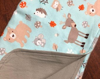 Woodland baby swaddle - flannel