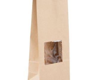 25 Ct 1 lb Brown Kraft Paper Cookie Bag, Kraft Paper Bag, Coffee Paper Bag, Coffee Bag, Kraft bag, Food Bag,  Kraft Paper Bag With Window