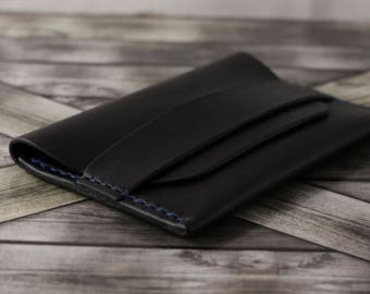 Flap Wallet Leather Handmade / Leather Card Holder / Minimalist Wallet / Compact Wallet / Full Grain Wallet / Leather Wallet / Card Wallet