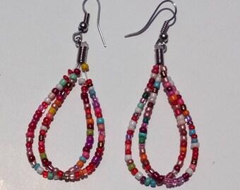 Jewellery, Earrings, Drop Earrings, Bead Earrings, Handmade Earrings, Beads Earrings, Earrings, Multicolor Earrings, Tear Drop Earrings