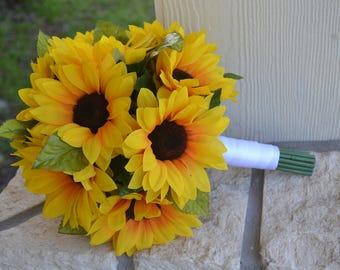 Sunflower Bridal Bouquet Wedding Flowers Rustic