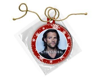 Supernatural Sam Winchester Jared Padalecki Christmas Ornament