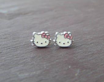 Cute Little Hello Kitty Stud Earrings
