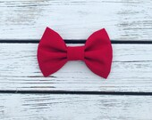 Solid Red-Christmas Headband-Baby Headband-Hair Bow-Bow Headband-Nylon Baby Headband-Nylon Bow Headband-Newborn-Fabric Bows