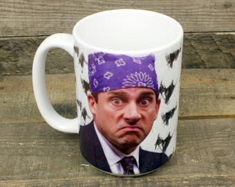 Prison Mike the Office MUG Michael Scott Dementors best boss ever coffee tea  tv show gifts for silly people