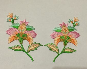 Applique has iron the embroidered 6 * 11 different color