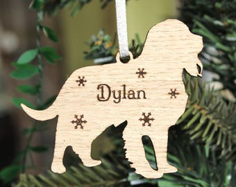 Personalised Spaniel Decoration,  Spaniel Christmas Tree Decoration,Personalised dog decoration, Wooden Spaniel Christmas Decoration,Spaniel