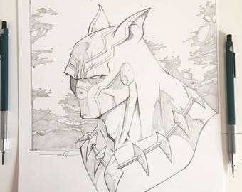 Black Panther pencil bust