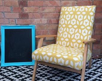 FREE DELIVERY! Vintage arm occasional chair new upholstery retro mid century. Free delivery!