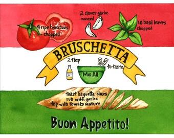 Bruschetta- illustrated recipe