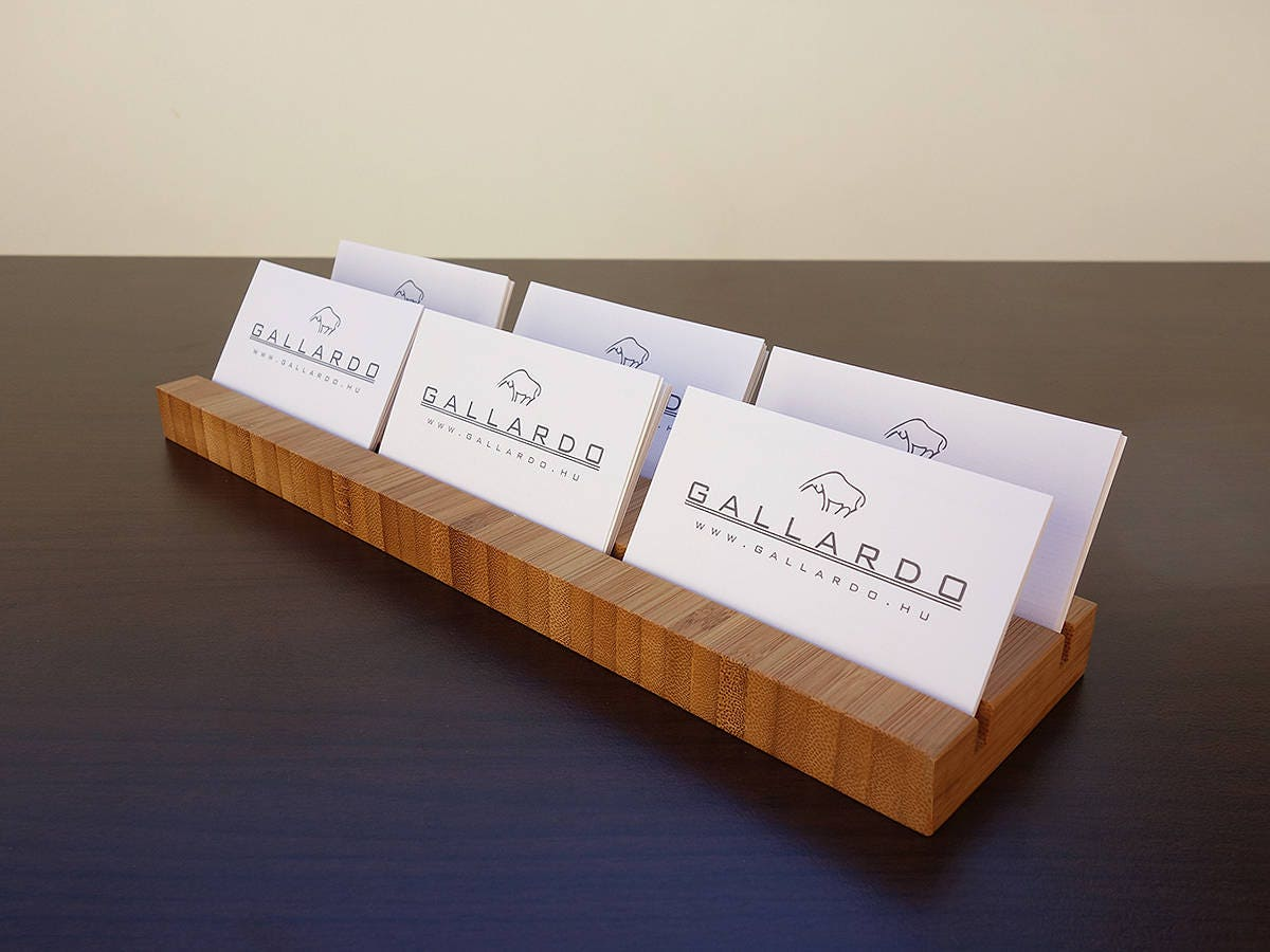 Multiple wood business card holder wooden card holder wood multiple wood business card holder wooden card holder wood business card stand office reheart Gallery