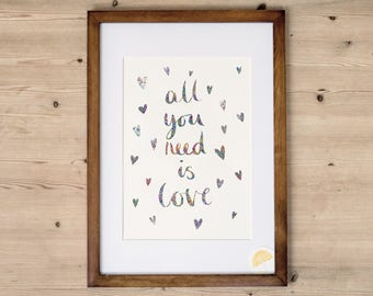 All You Need Is Love | Beatles Inspired Art Print