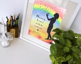 Mum To Be Gift, Baby Shower Gift, Mom To Be Print, New Mother Gift, Personalised Mum To Be Art, Mom Print, New Baby Gift, Baby Keepsake