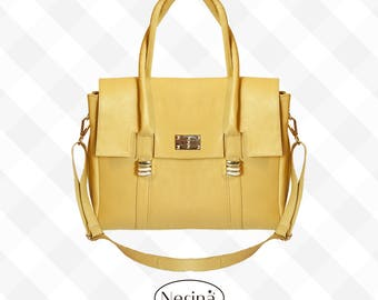 Argentine leather - leather bag, leather purse for women handemade bag - free shiping - Tote