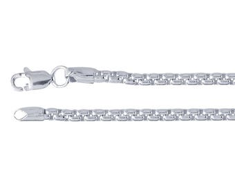 Sterling Silver 2.6mm Rounded Box Chain, choose your length....