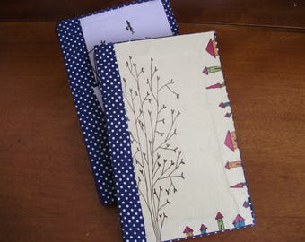Hand-bound and illustrated blank notebooks