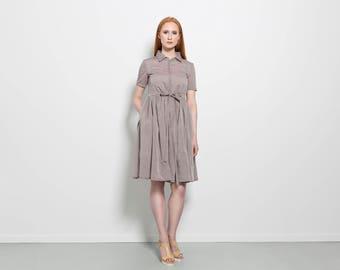 Minimalist dress - Summer dress midi - Cotton dress midi - Simple cotton dress - Casual short dress - Women trendy dress - Casual midi dress