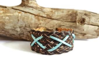 Cuff Bracelet braided and son