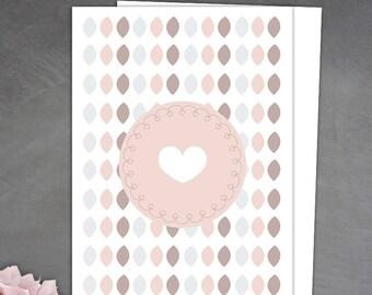 Sweet post card in pastel tones