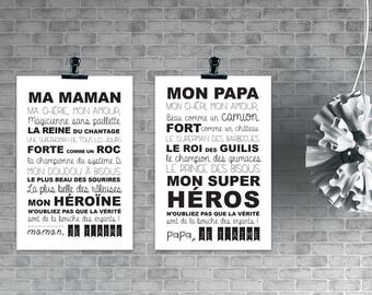 Affiche A4 pour des SUPERS PARENTS