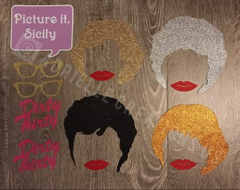 Golden Girls Photo Booth Props for Birthday and Party