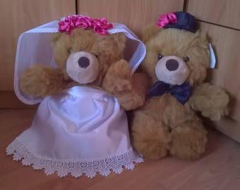 Bride and Groom Wedding dolls Wedding Teddy Bears Wedding gifts Couple Wedding gift Shabby Chic Decor, Wedding decoration Toys