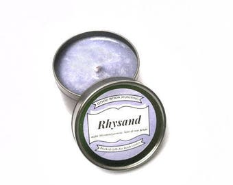 Rhysand   Book Candle   Scented Soy Candle   Book Lover Gift   4oz tin   Vegan